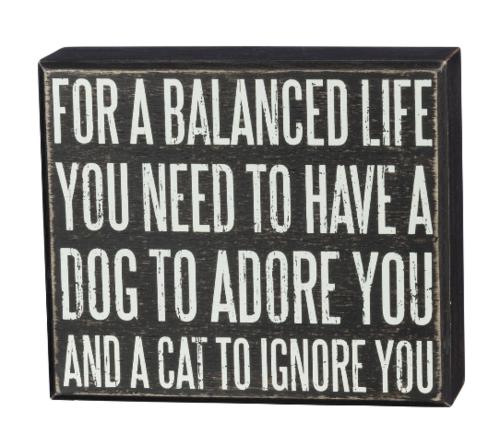 Balanced Box Sign