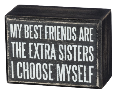 Extra Sisters Box Sign