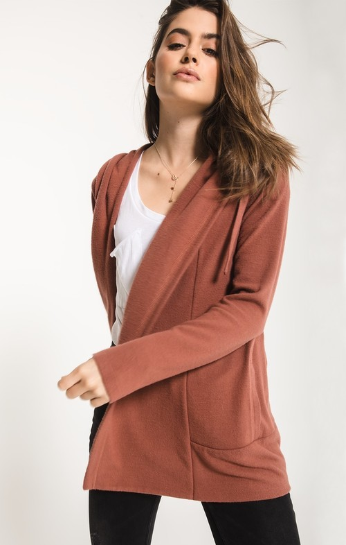 Clay Soft Spun Sweater Cardi