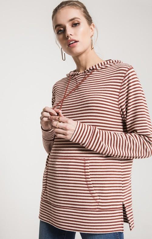 Pearl & Clay Stripe Soft Spun Hoodie