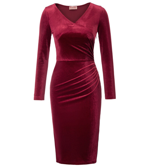 Velvet Vamp Dress (Wine or Black)