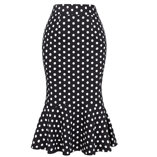 Polka Dot Mermaid Skirt