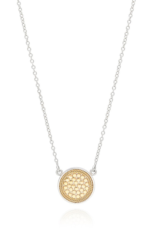 "Anna Beck Disc Necklace 16-18"" Gold/Silver"