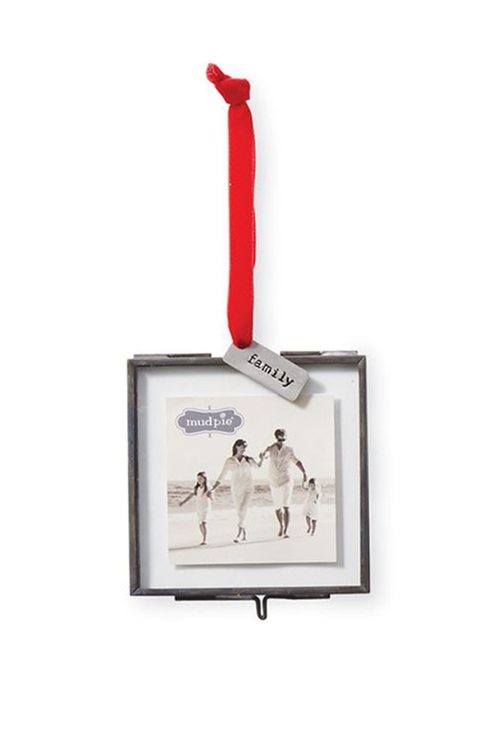 Family Glass Ornament Frame