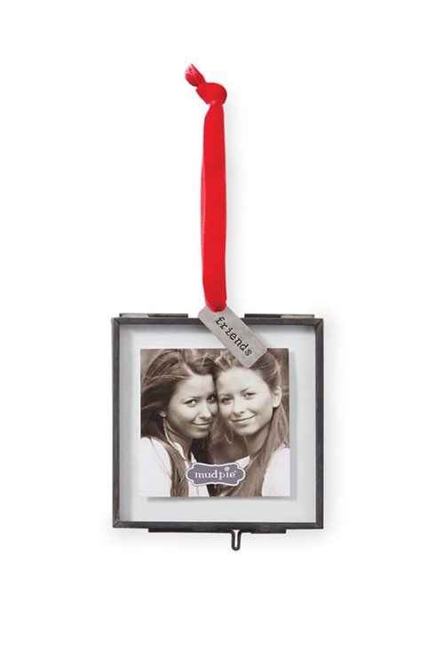 Friendship Hanging Glass Ornament Frame