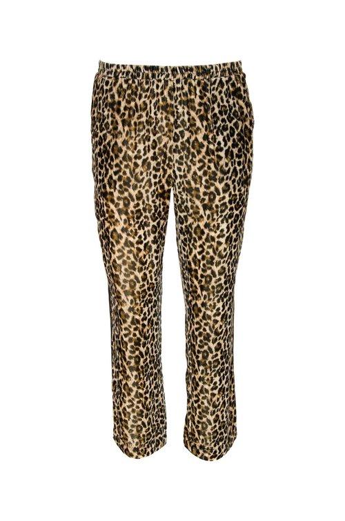 Velvet Leopard Pipping Pant