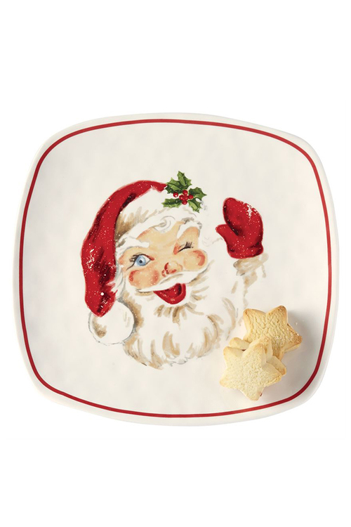 Vintage Santa Cookie Platter