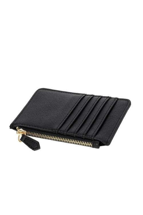 Multi Slot Zip Card Holder - Black