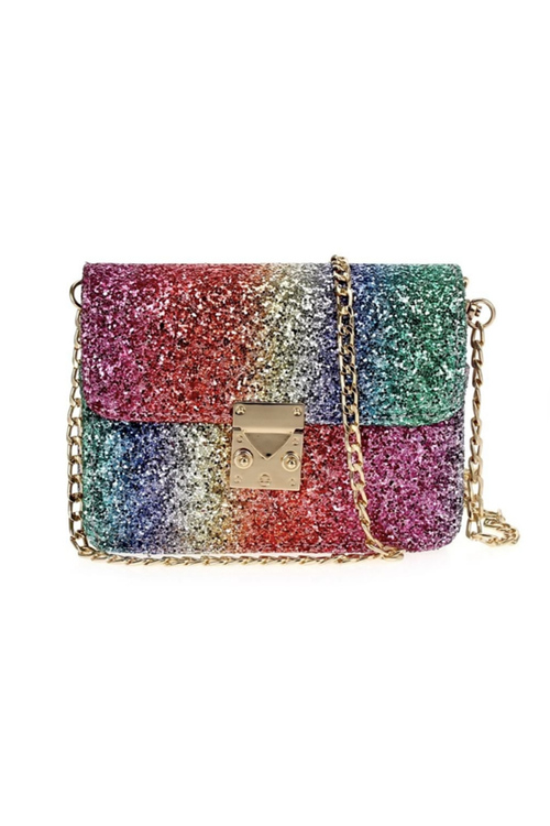 Small Glitter Cross Body Bag - Multi