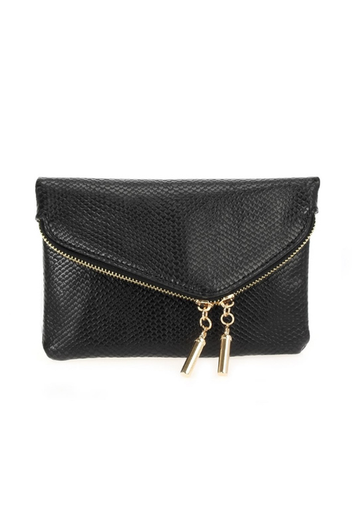 Python Fold Over Wallet On Chain - Black