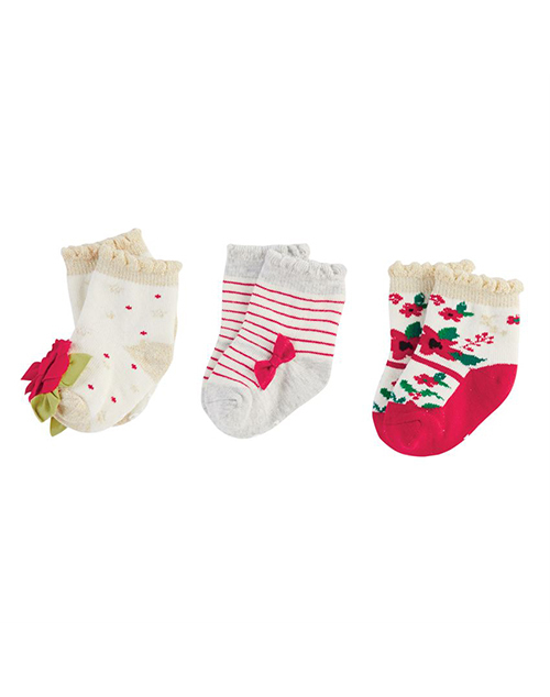 Christmas Floral Sock Set