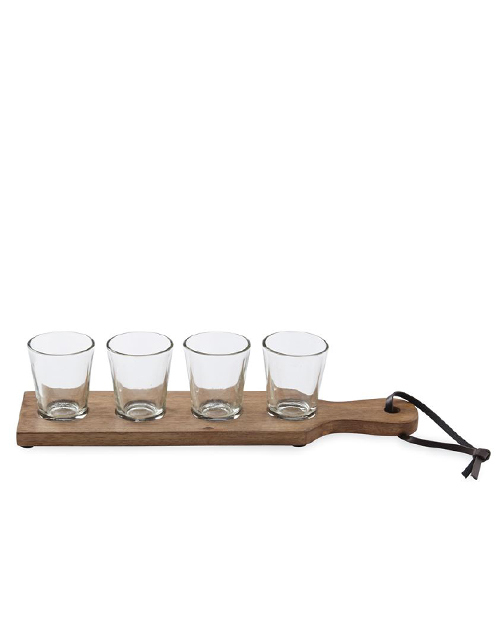 Shot Glass & Paddle Set
