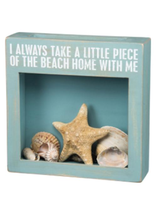 Piece of the Beach Cork Box Sign