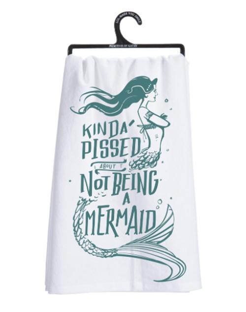 A Mermaid Dish Towel