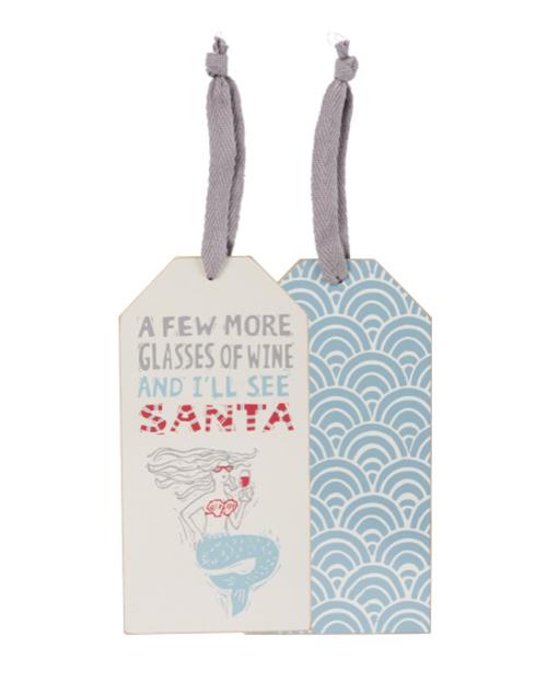 I'll See Santa Bottle Tag