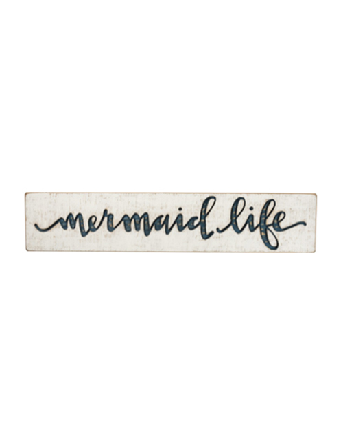 Mermaid Life Carved Sign
