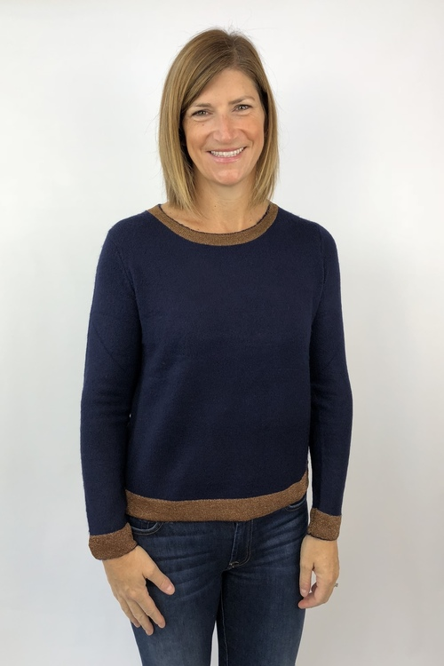 Naima Gold Trim Sweater