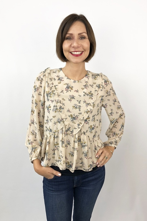 Cylinia Floral Ruffle Top