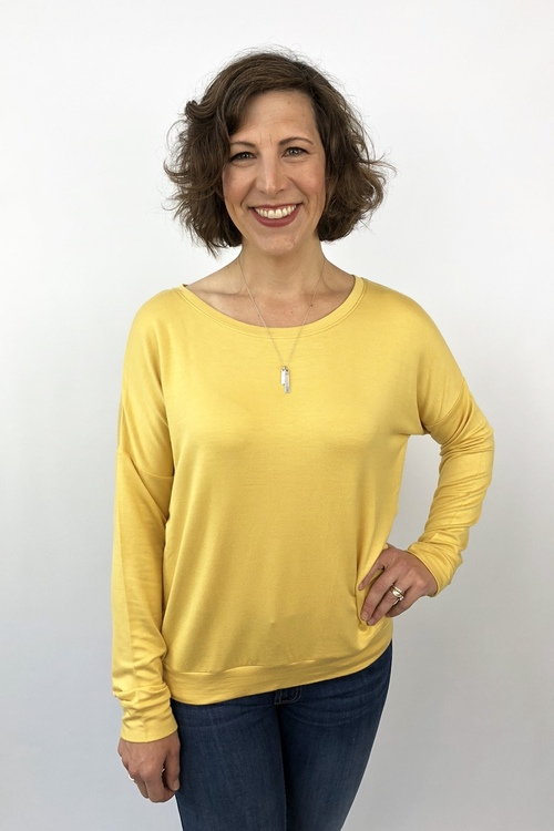 Mustard French Terry Pullover