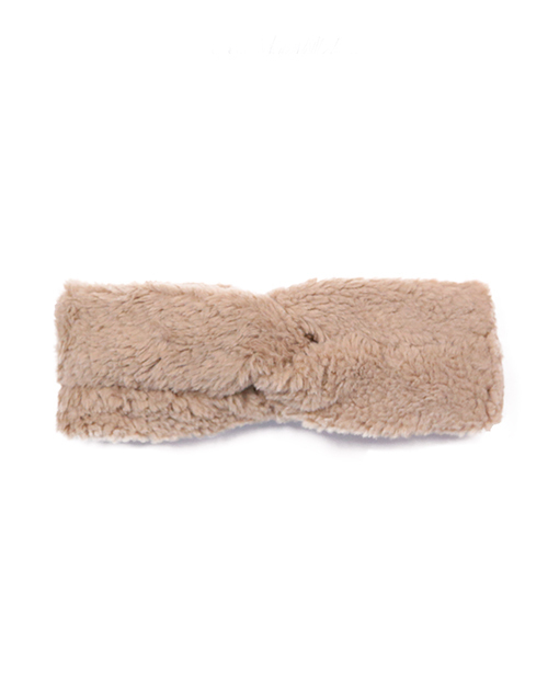 Teddy Twisted Headband - Taupe