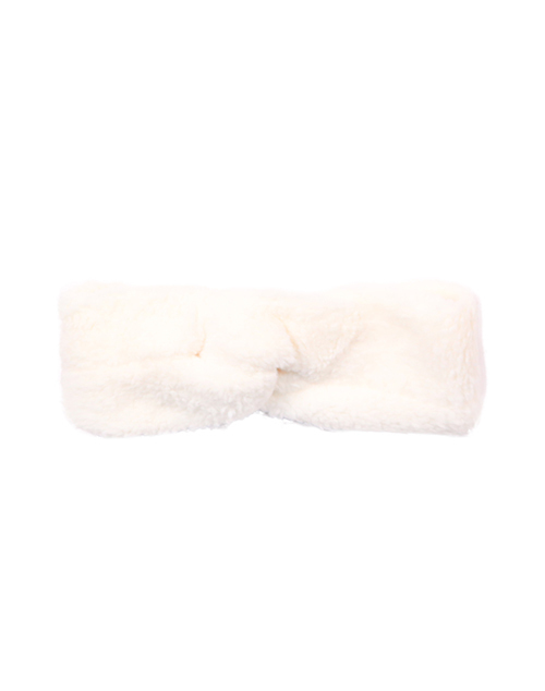 Teddy Twisted Headband - Ivory