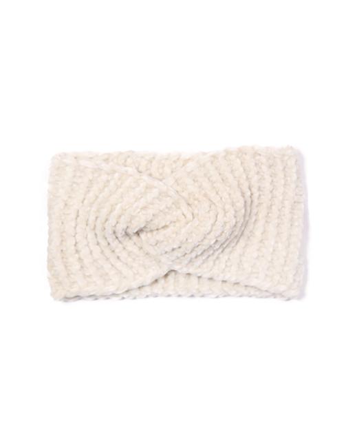 Chenille Headwrap - Ivory
