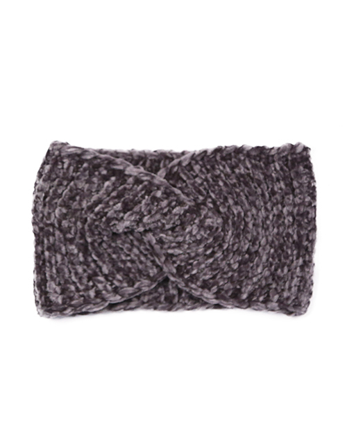 Chenille Headwrap - Grey