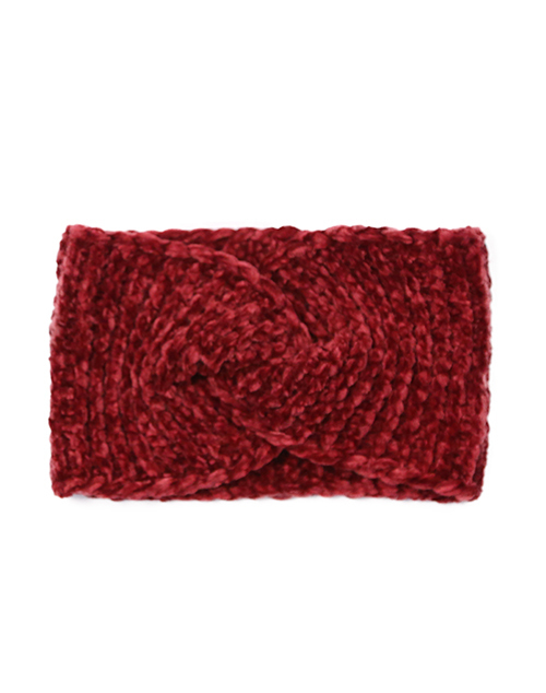 Chenille Headwrap - Burgundy