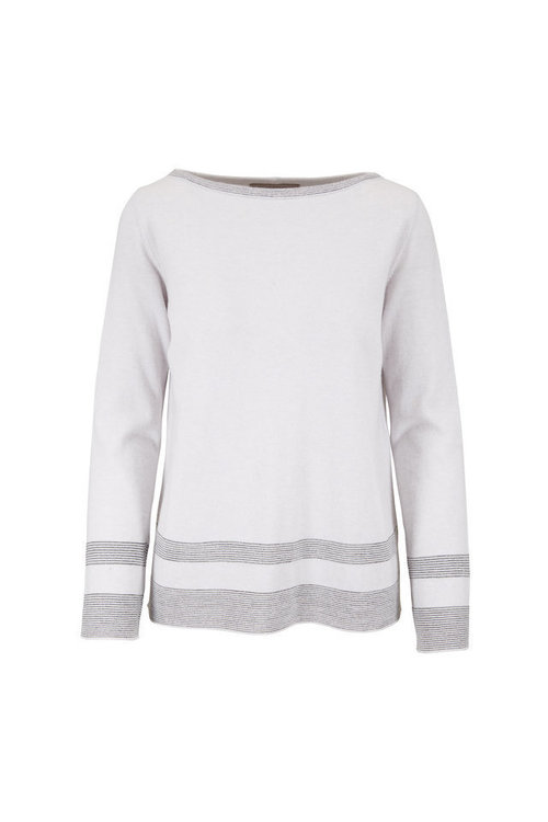 Metallic Stripe Sweater