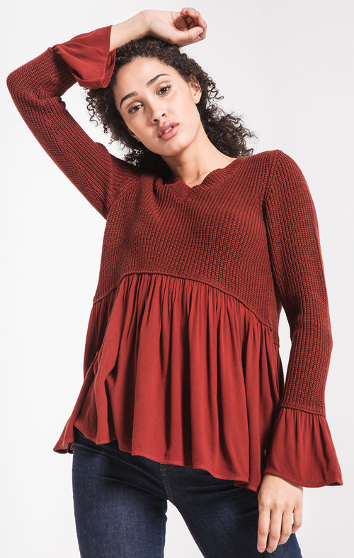 Vesta Peplum Sweater