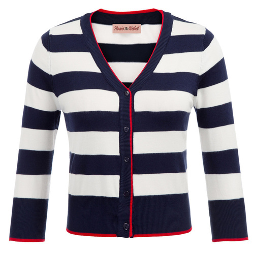 Ahoy Sweater (White/Navy)