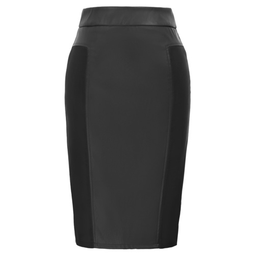 Faith Skirt (Leatherette/Bengaline) Red or Blk