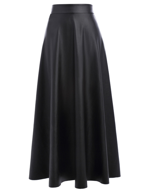 Traci Faux Leather Maxi Skirt