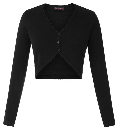 Eleanor Cropped Cardigan (Navy or Black