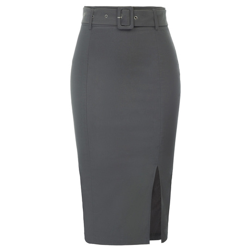 Esther Pencil Skirt (Grey or Black)