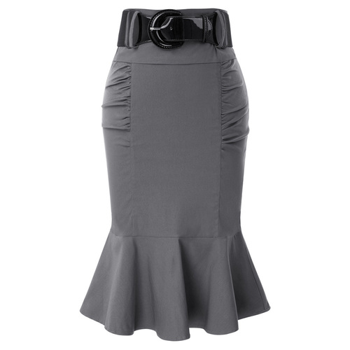 Maria Mermaid Skirt (Grey or Black)