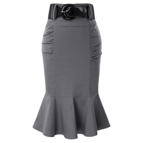 Maria Mermaid Skirt (Grey or Black)