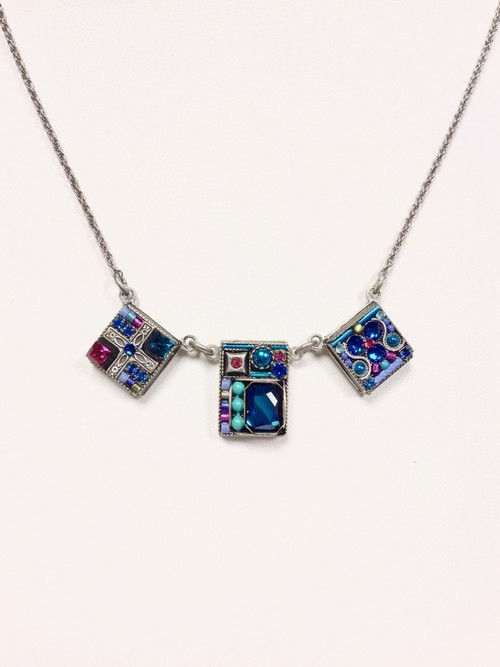Geometric Square 3 Tier Necklace