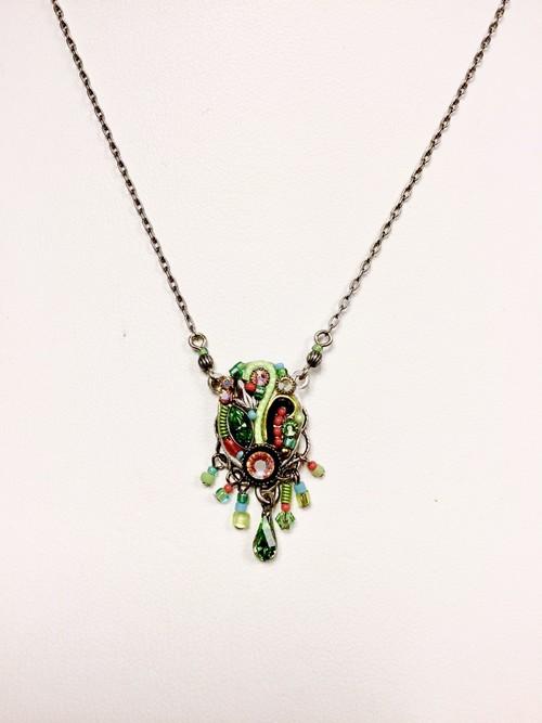 Art Nouveau Necklace Lime