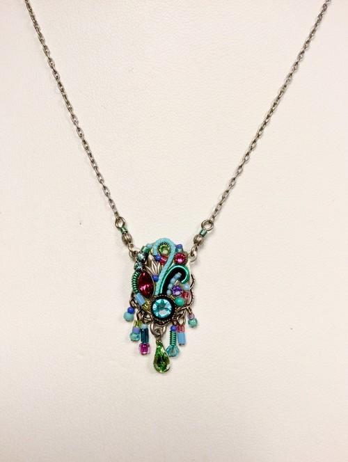 Art Nouveau Necklace Light Turquoise
