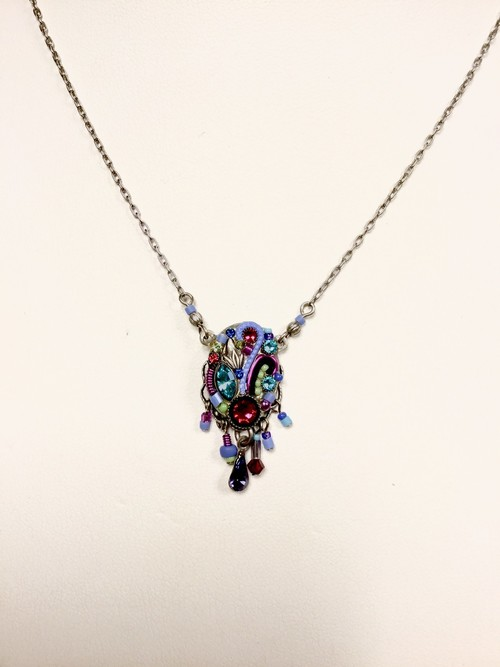 Art Nouveau Necklace Periwinkle
