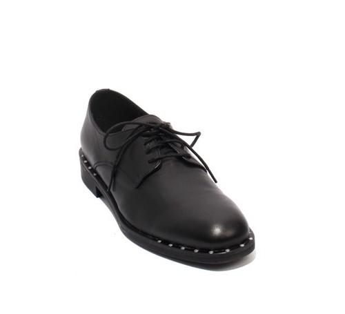 outlet store 44cc4 c1818 Black Leather / Lace-Up Oxfords Shoes