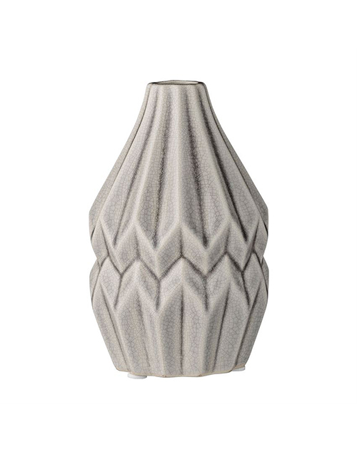 Cool Grey Stoneware Vase