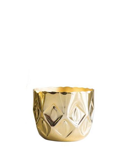 Embossed Metal Tea Light Holder - Small