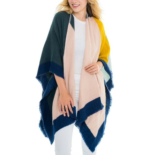 Color Block Cape