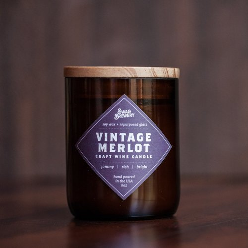 Vintage Merlot Wine Candle