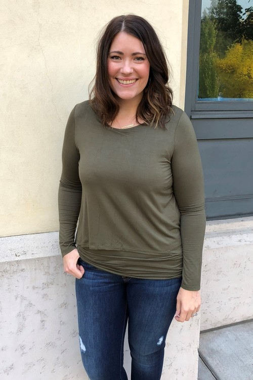 Olive Double Layer Tunic