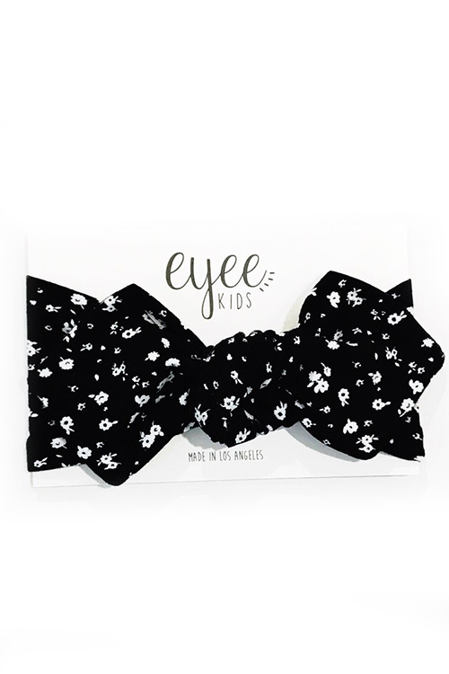 Top Knot - Black White Floral