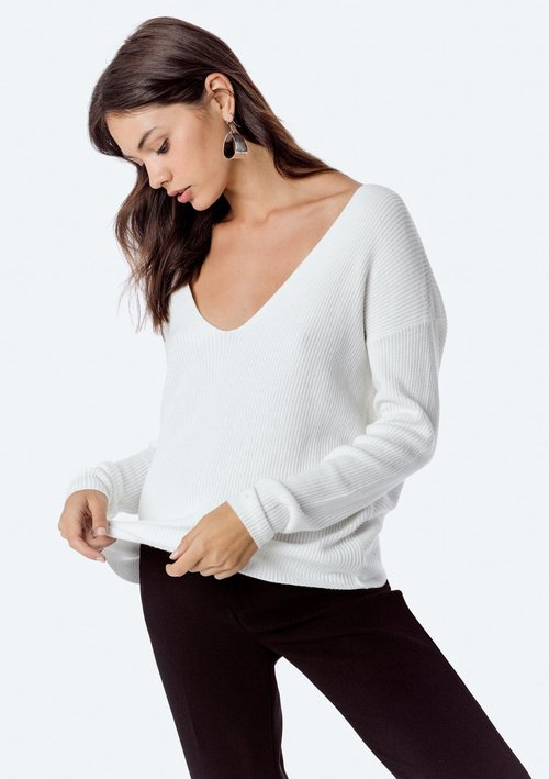 Winter White Knot Back Sweater