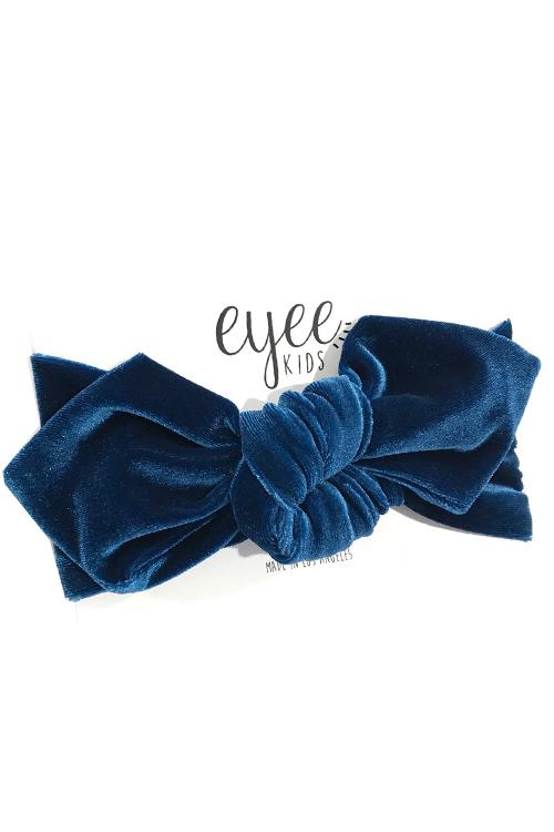 Top Knot Headband - Teal Velvet